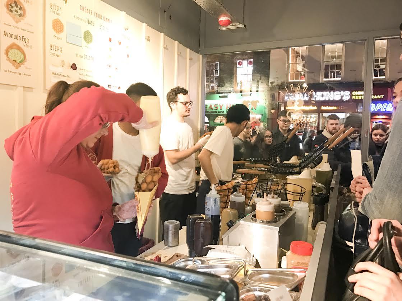 Bubblewrap Waffle London prices