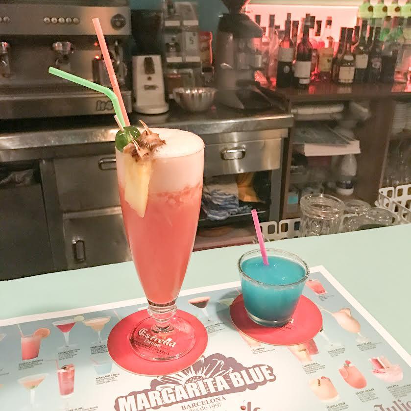 Margarita Blue Barcelona cocktails