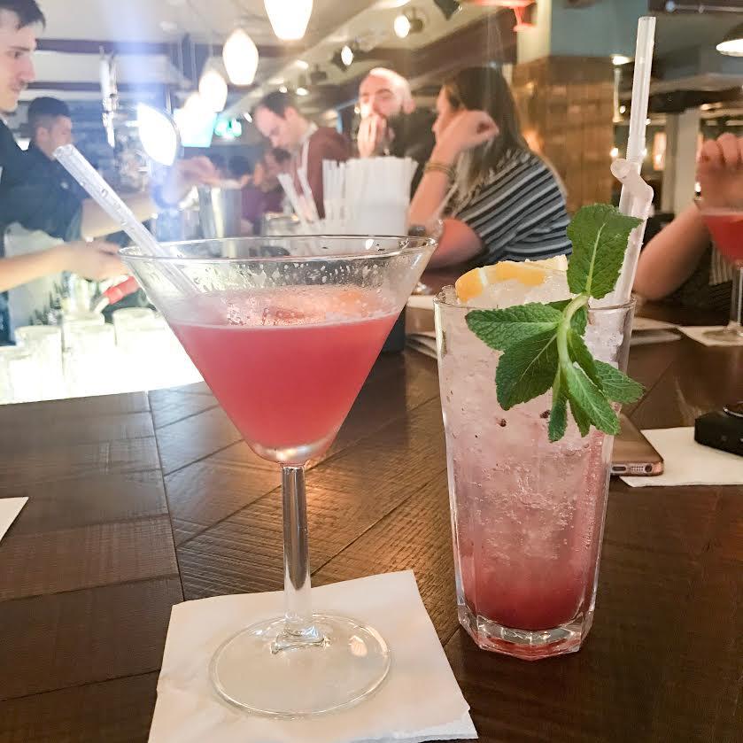 Revolution bar cocktails