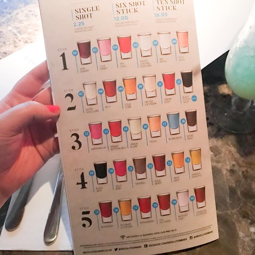 Revolution bars vodka flavours