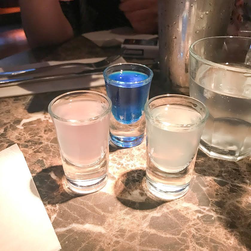 Revolution bars vodka shots