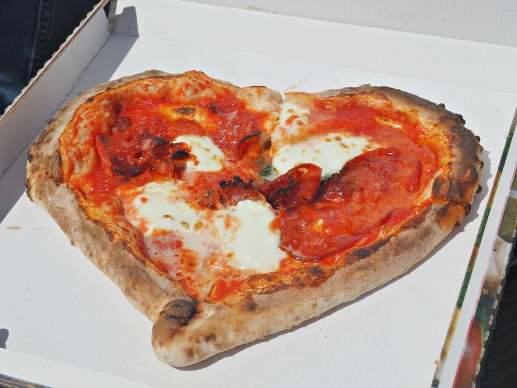 Gusta Pizza heart shaped pizza