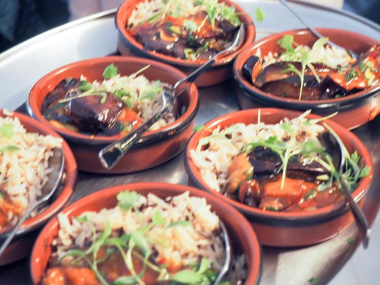 stewed sweet chilli aubergine