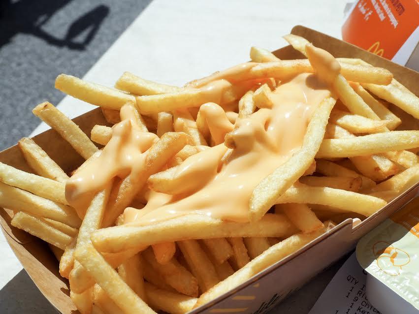 McDonalds cheesy chips