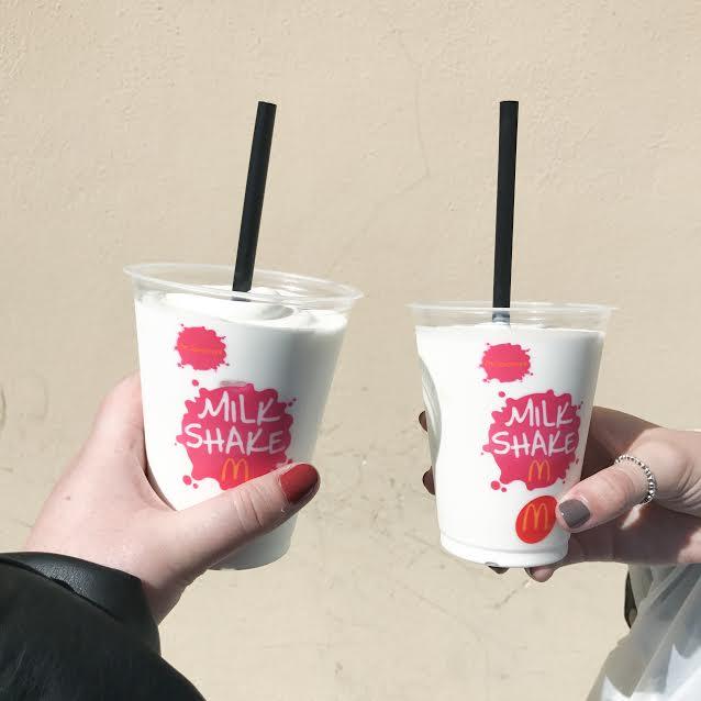 McDonalds coconut milkshake