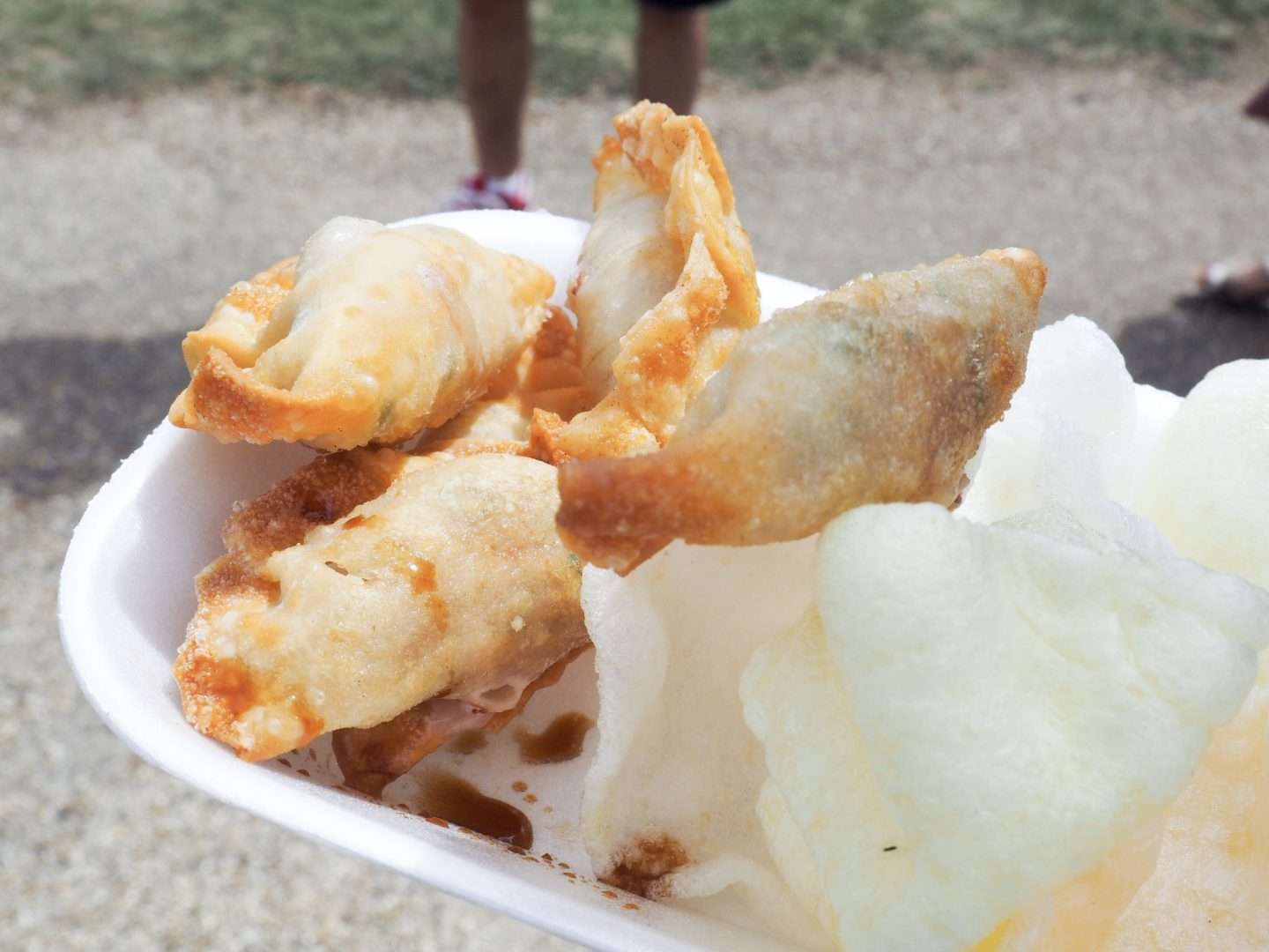 Green Cow Catering pork and chive dumplings