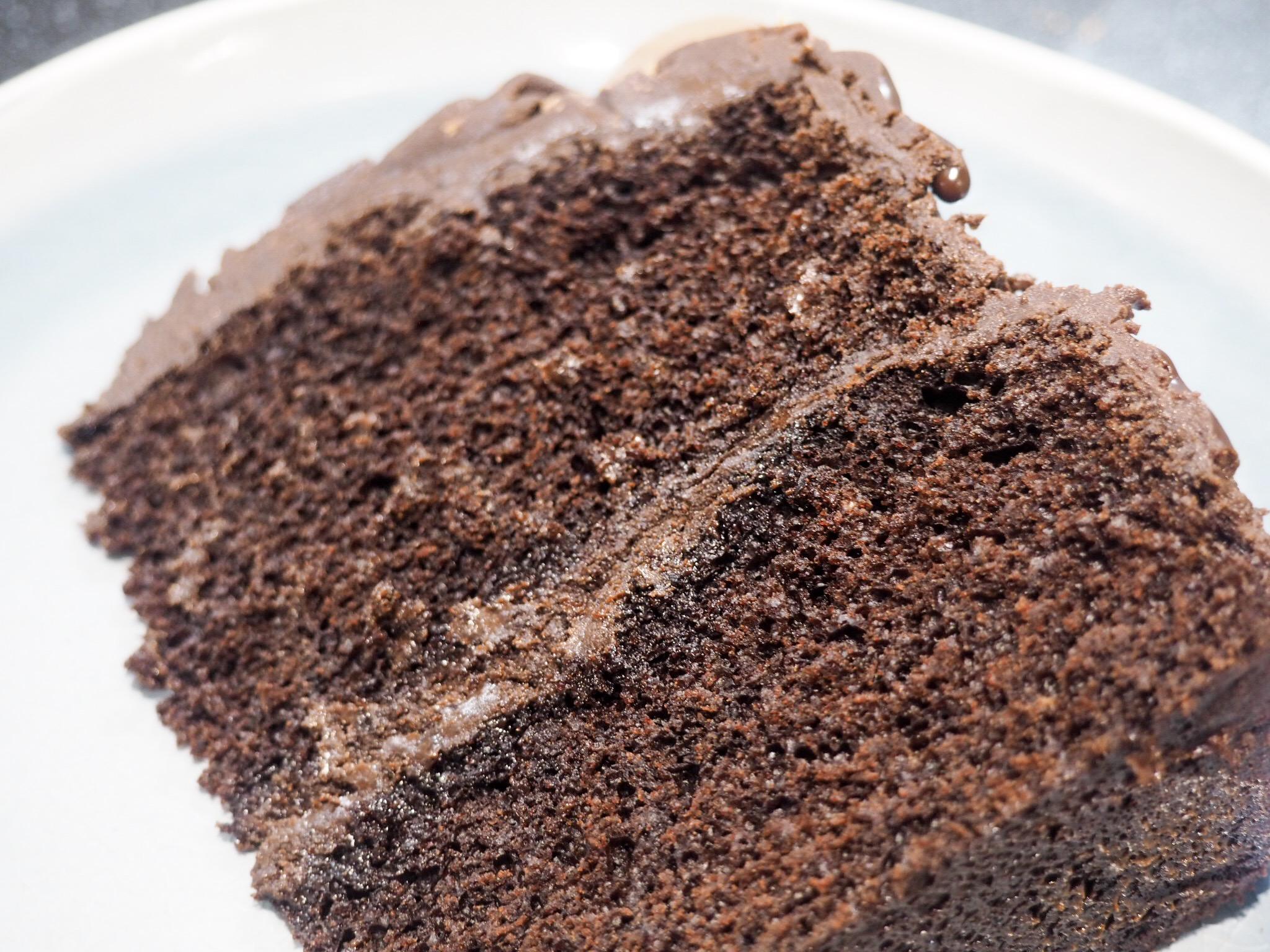 Chocolate sponge with chocolate ganache