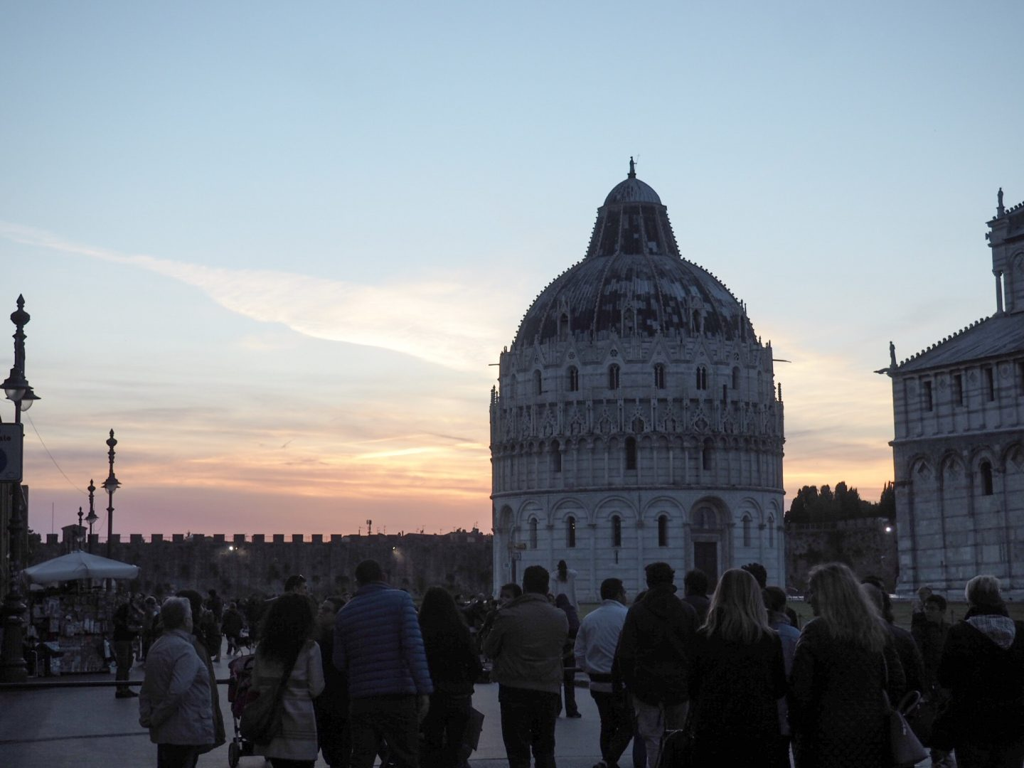 Pisa in the sunset