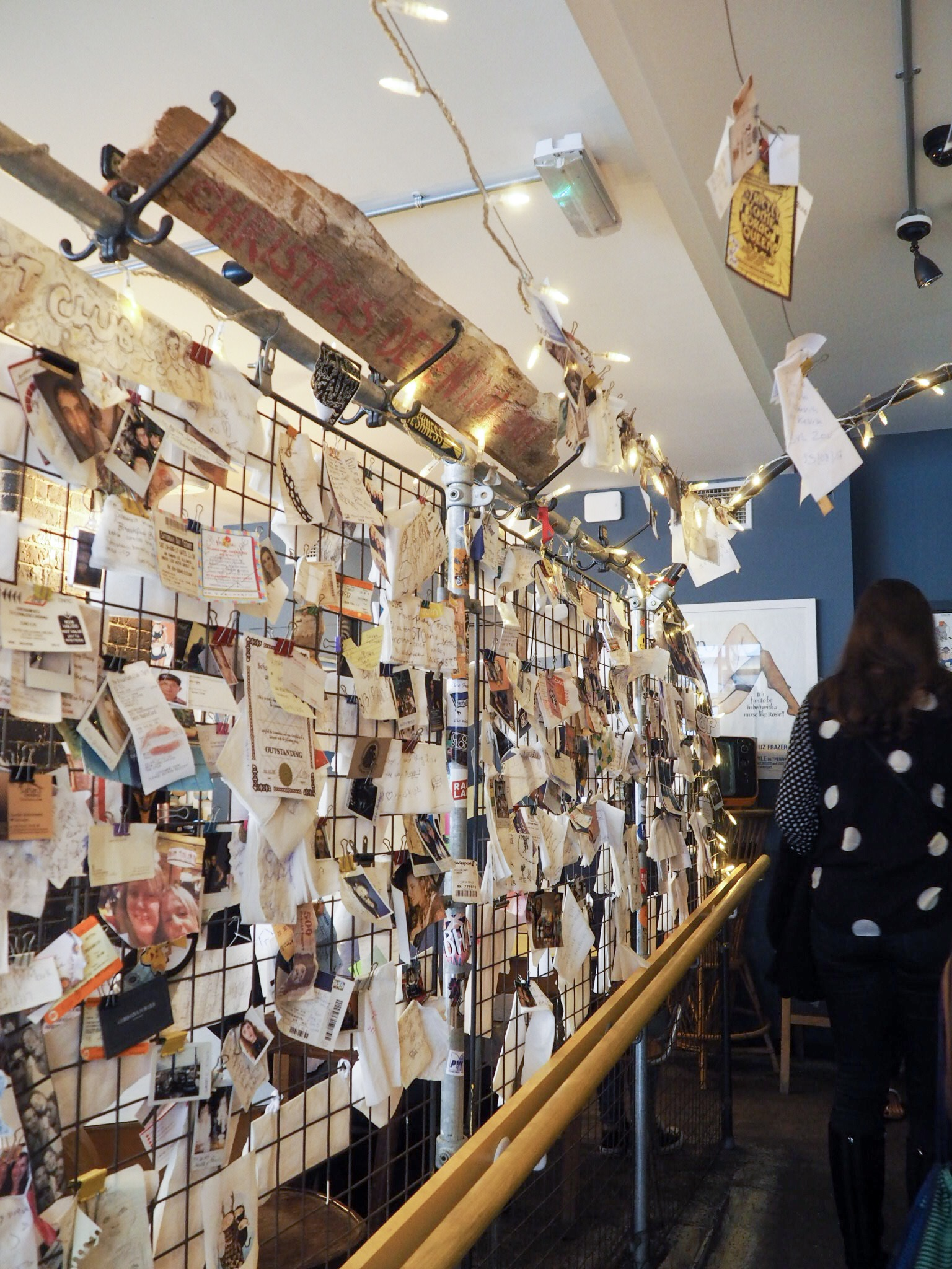The Breakfast Club memory wall