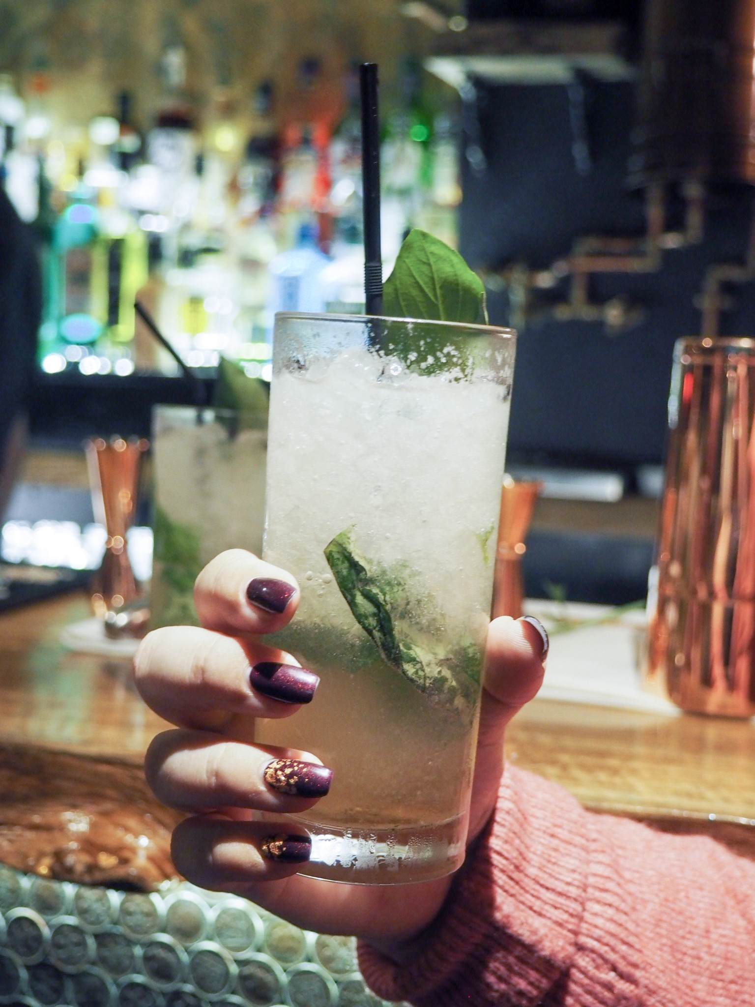 Royal Hotel Southend basil cocktail