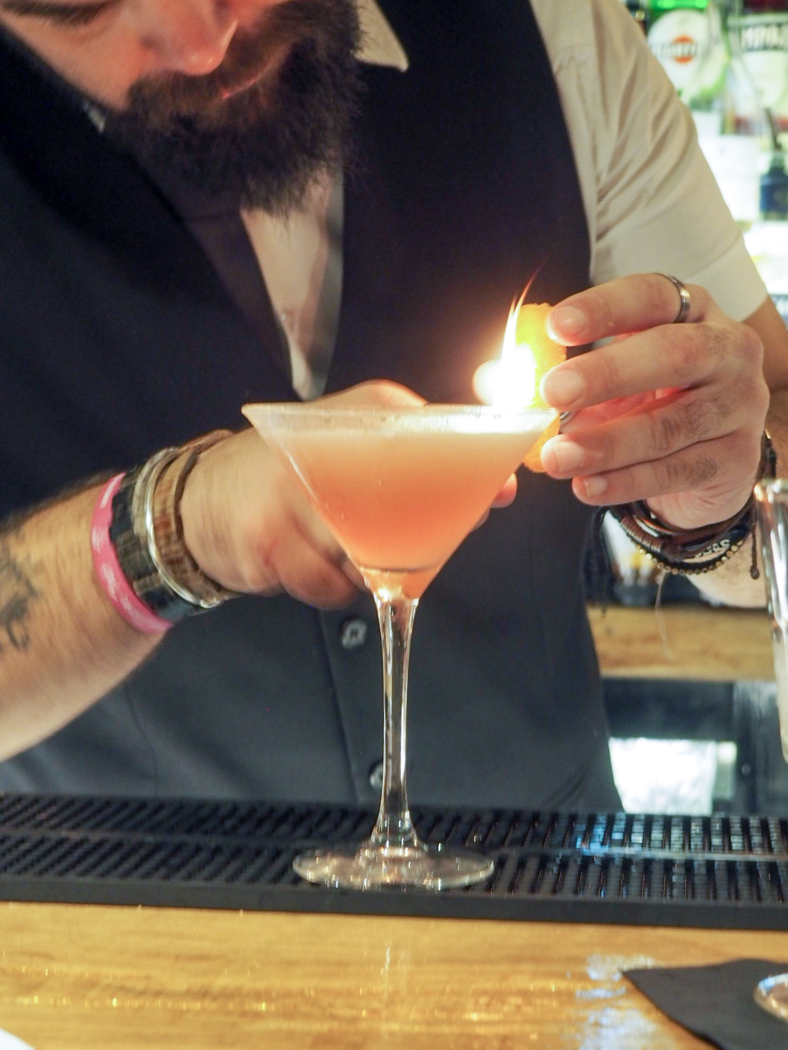 Royal Hotel Southend blood orange cosmo