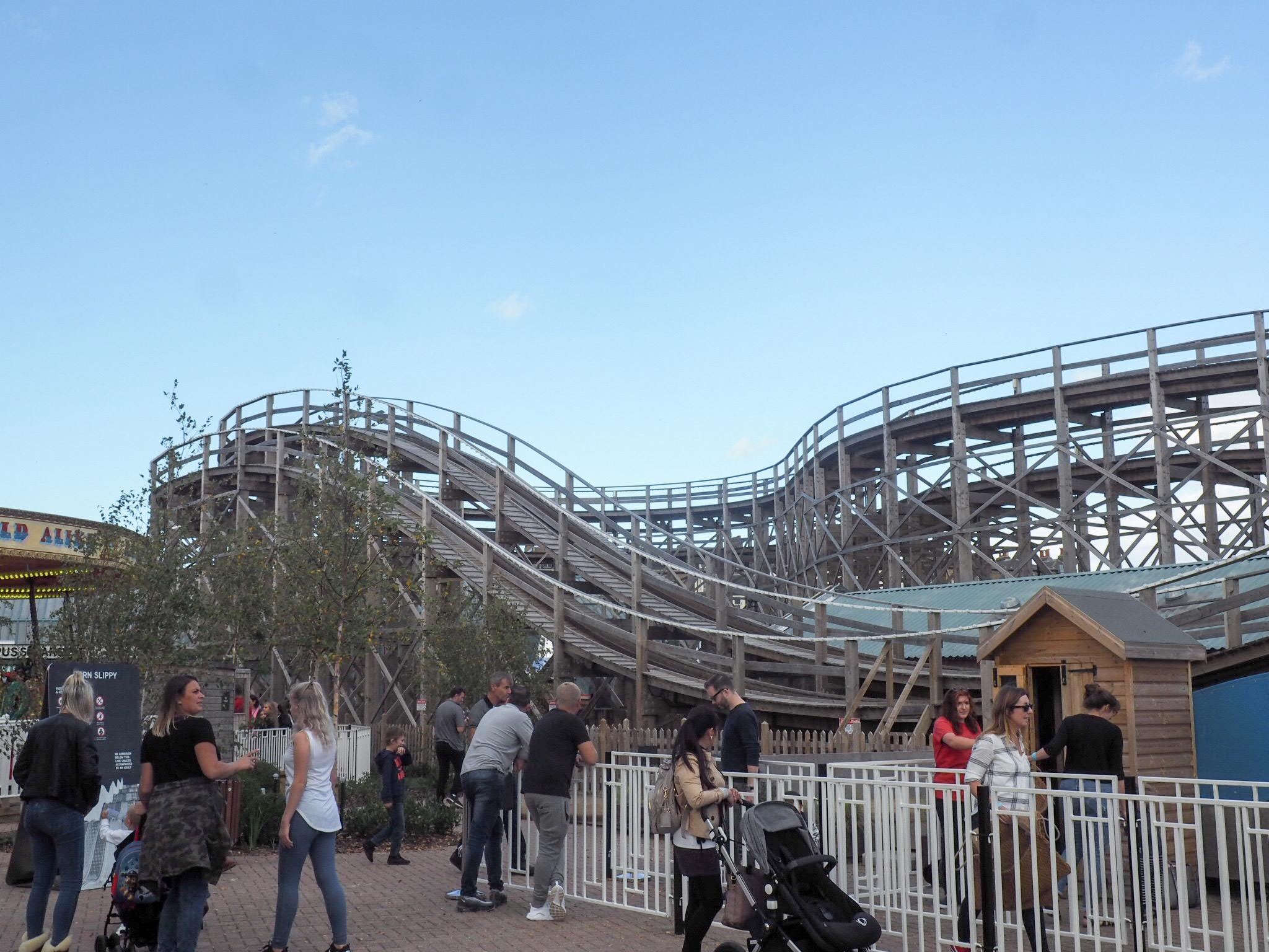 Wooden roller coaster at Margate