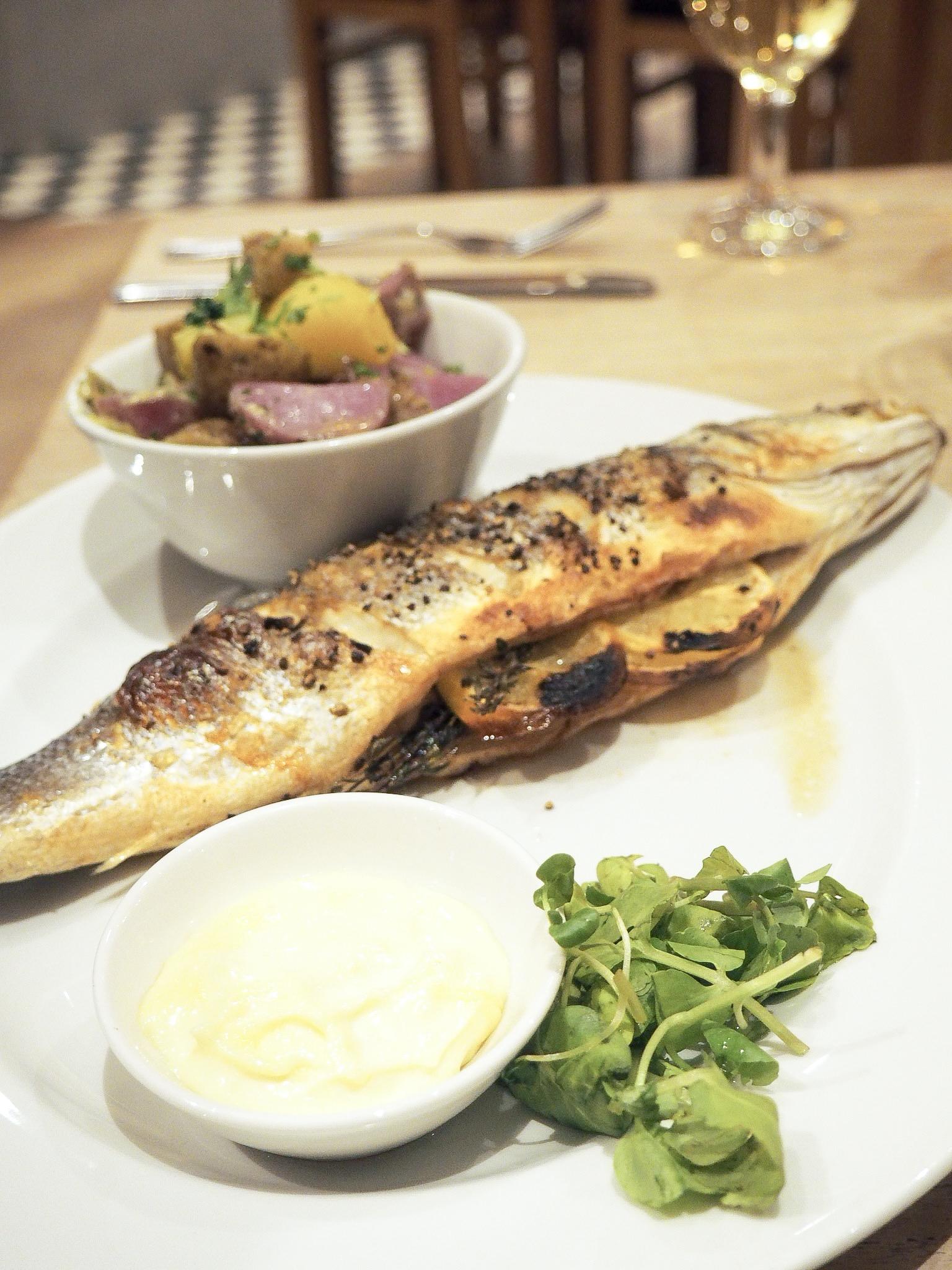 Loch Fyne roasted sea bass