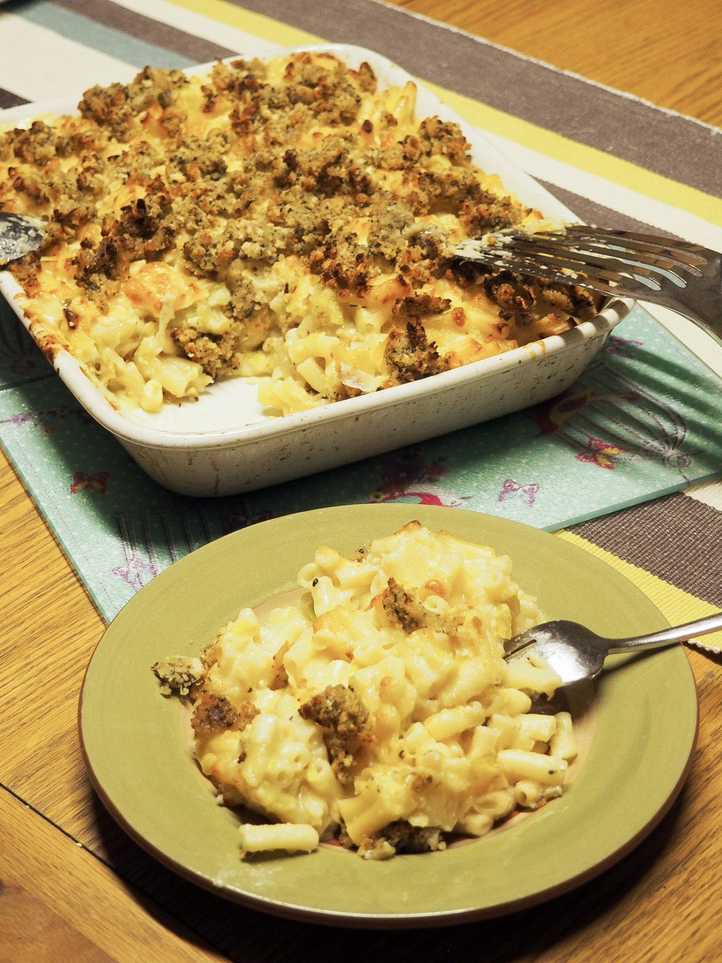 Leek Mac n' Cheese with A Twist
