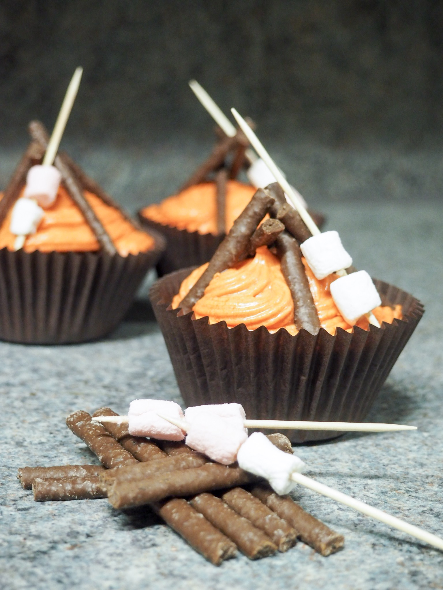 bonfire cupcake recipe