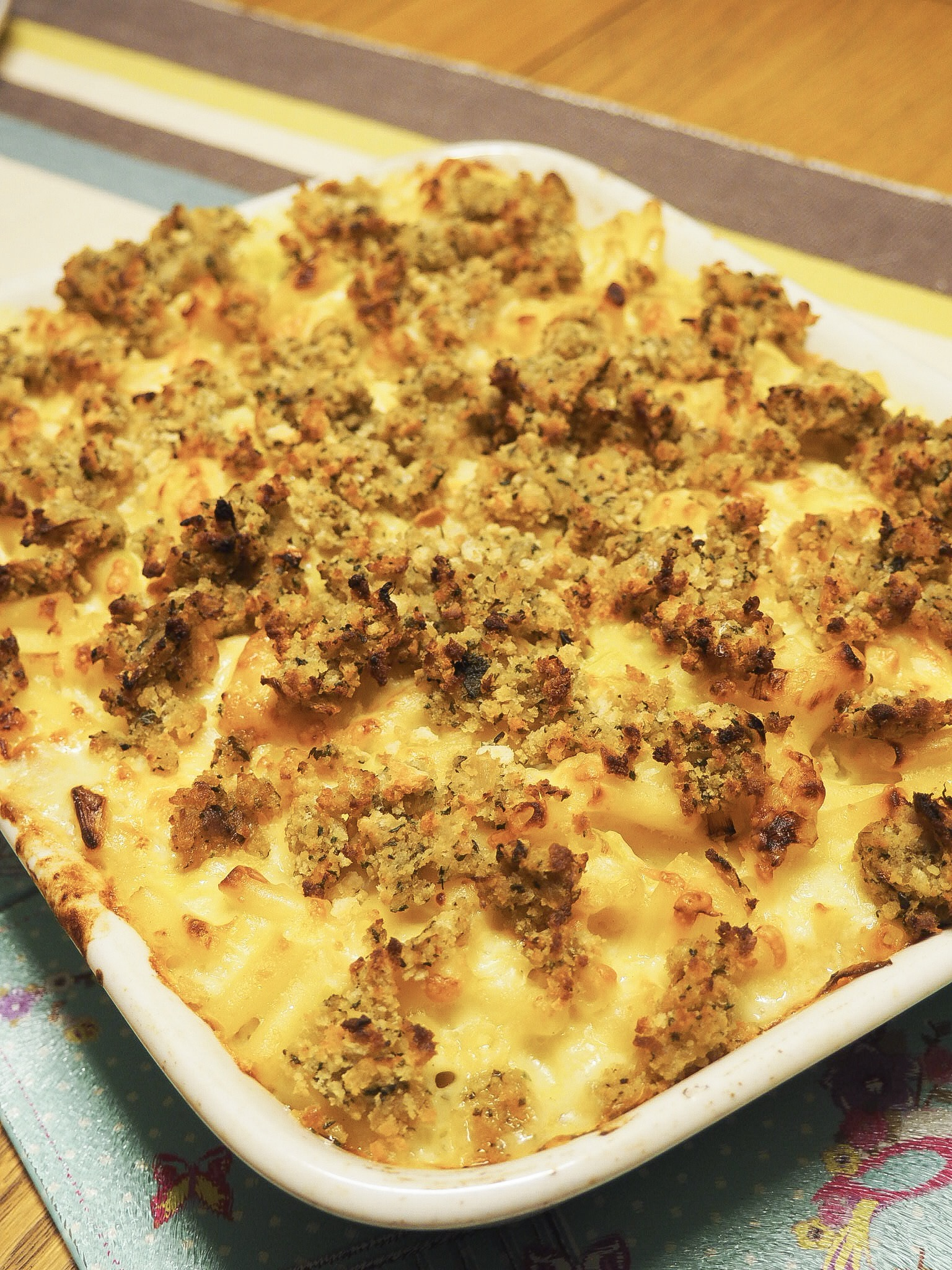 leek mac n cheese with stuffing recipe
