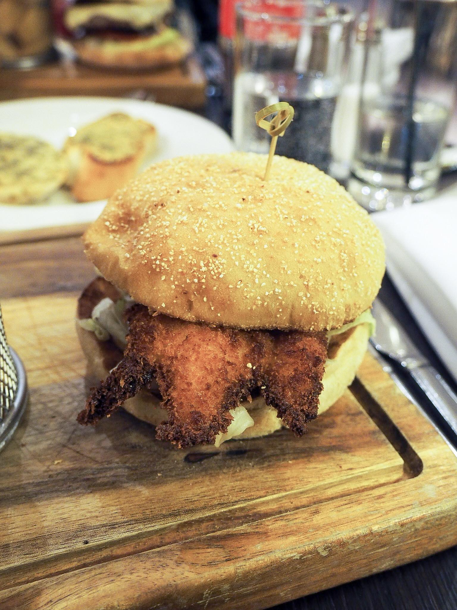 Crowne Plaza Resort Colchester katsu curry burger