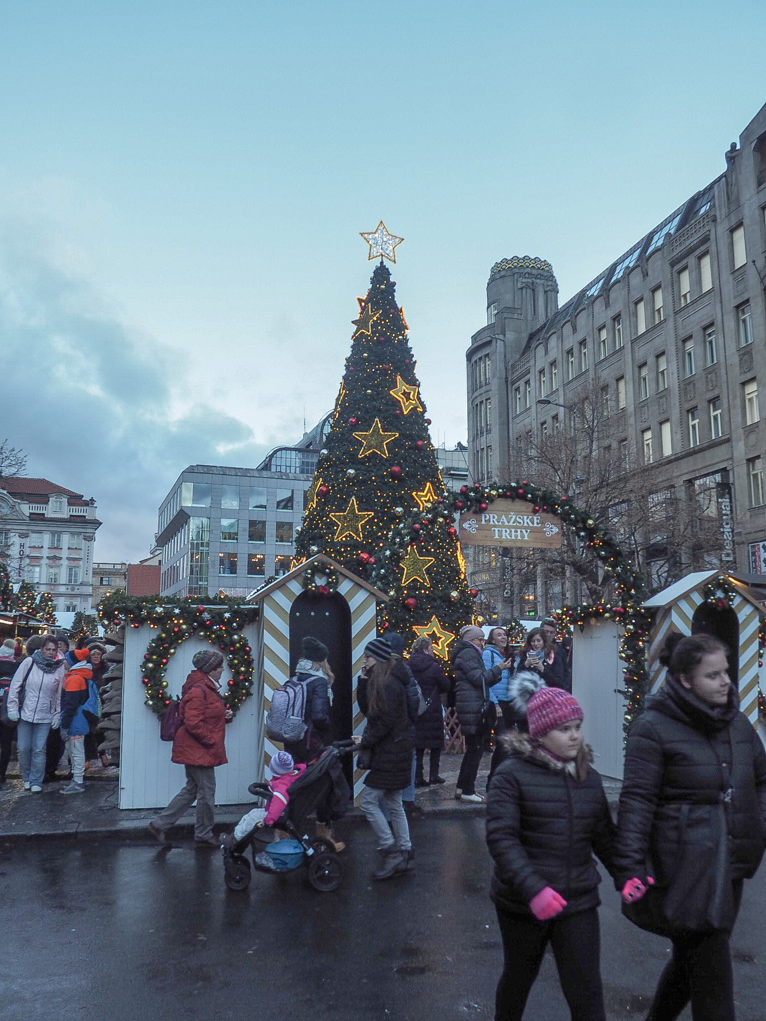Wenceslas Square christmas market