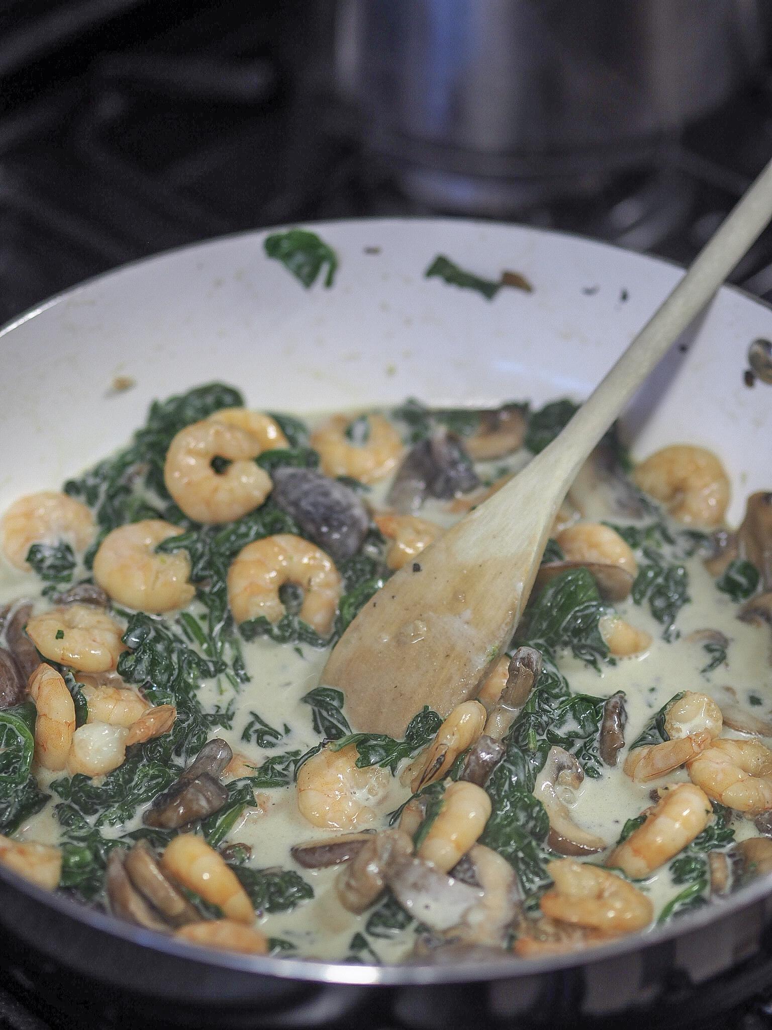 creamy mushroom and prawn pasta slimming world recipes