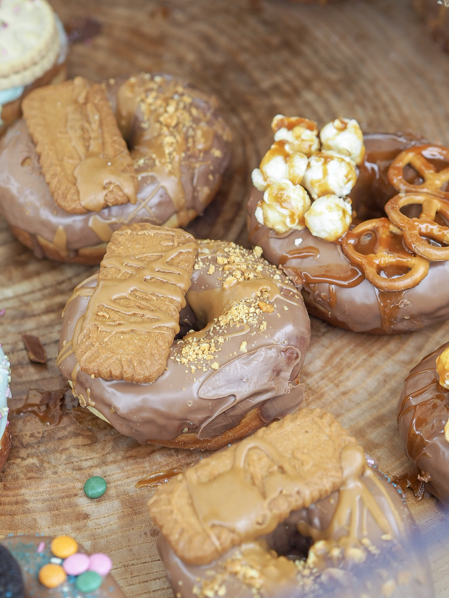 biscoff topped doughnuts