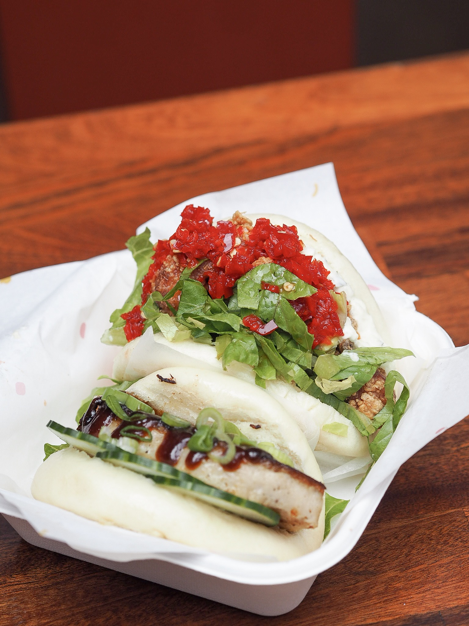steamed buns at dinerama