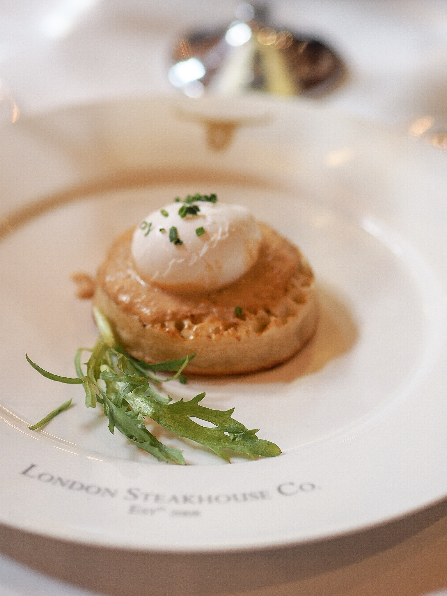 Cornish Crab on Toasted Crumpet london steakhouse
