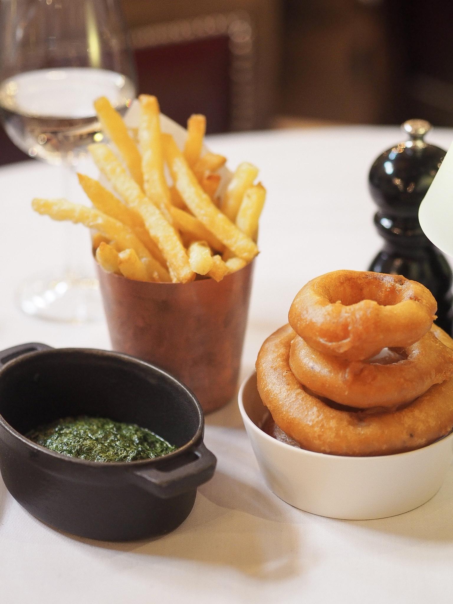 london steakhouse side menu