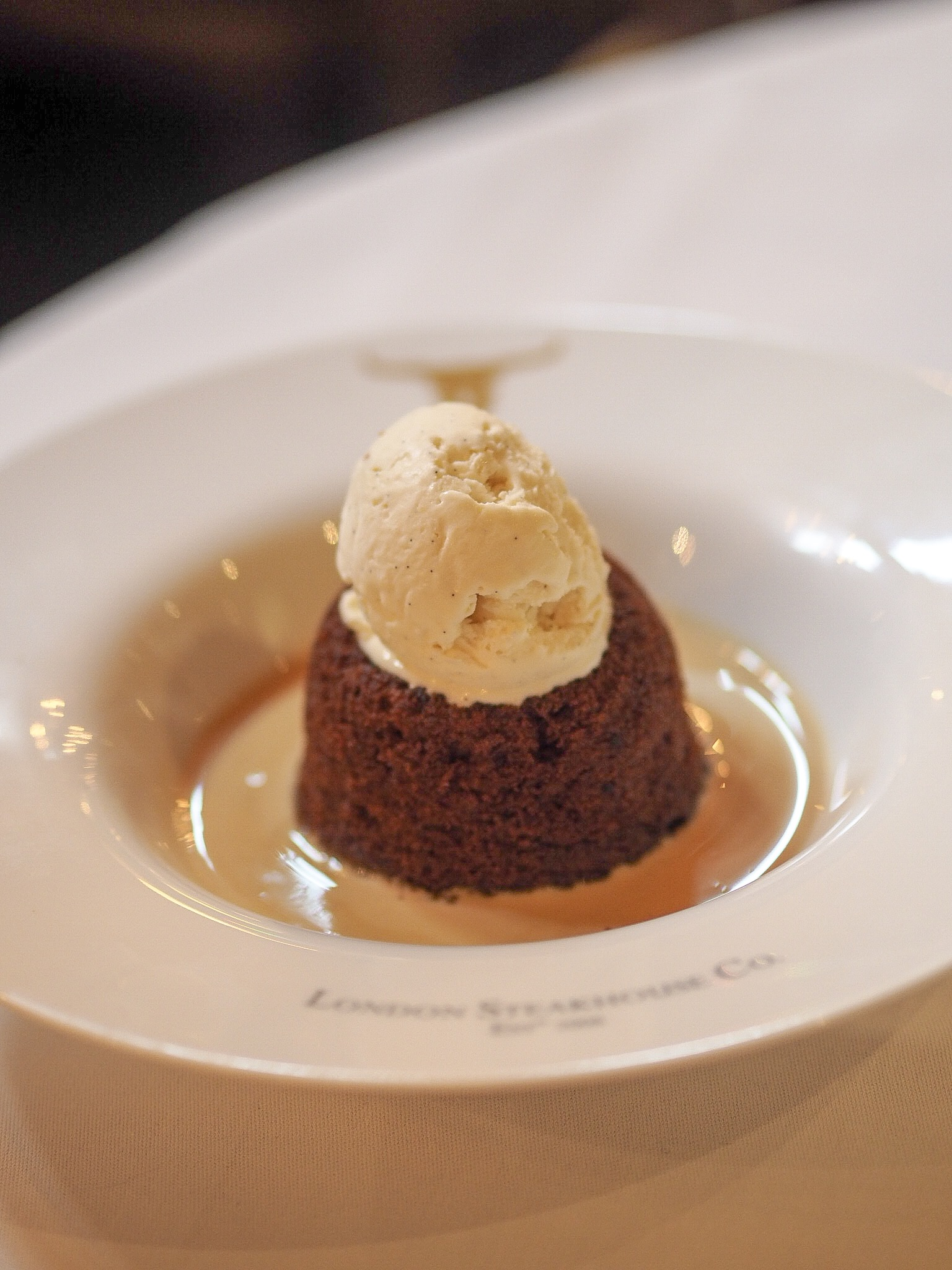 sticky toffee pudding at the london steakhouse company