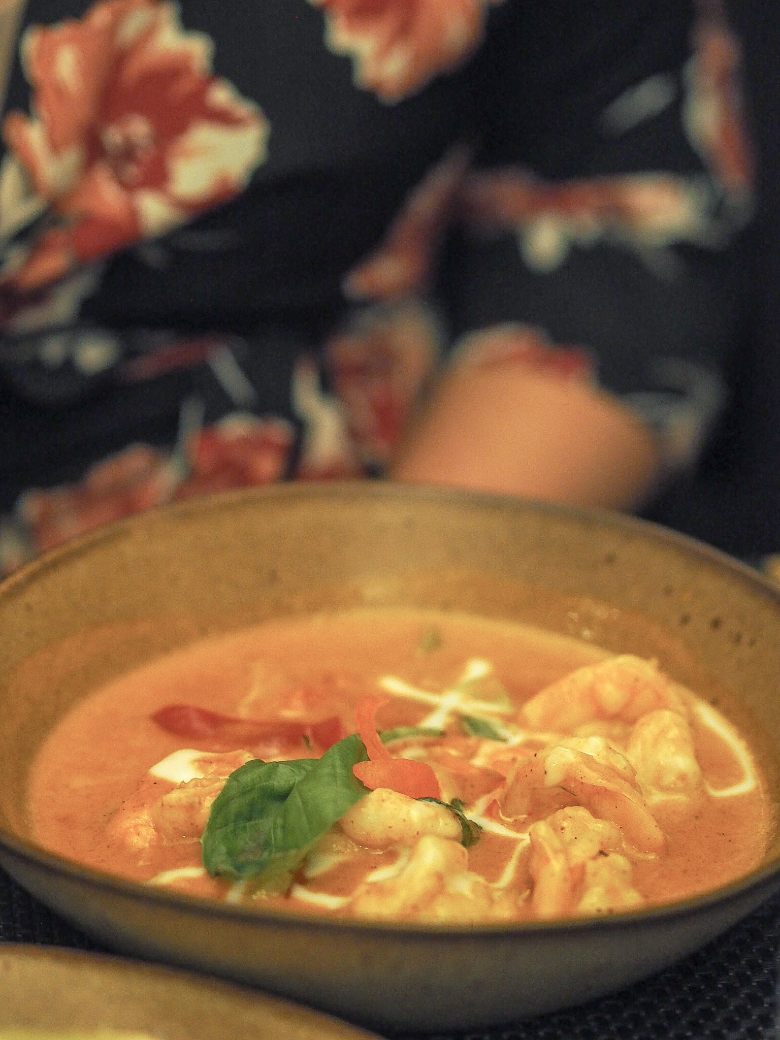 prawn paneang curry giggling squid