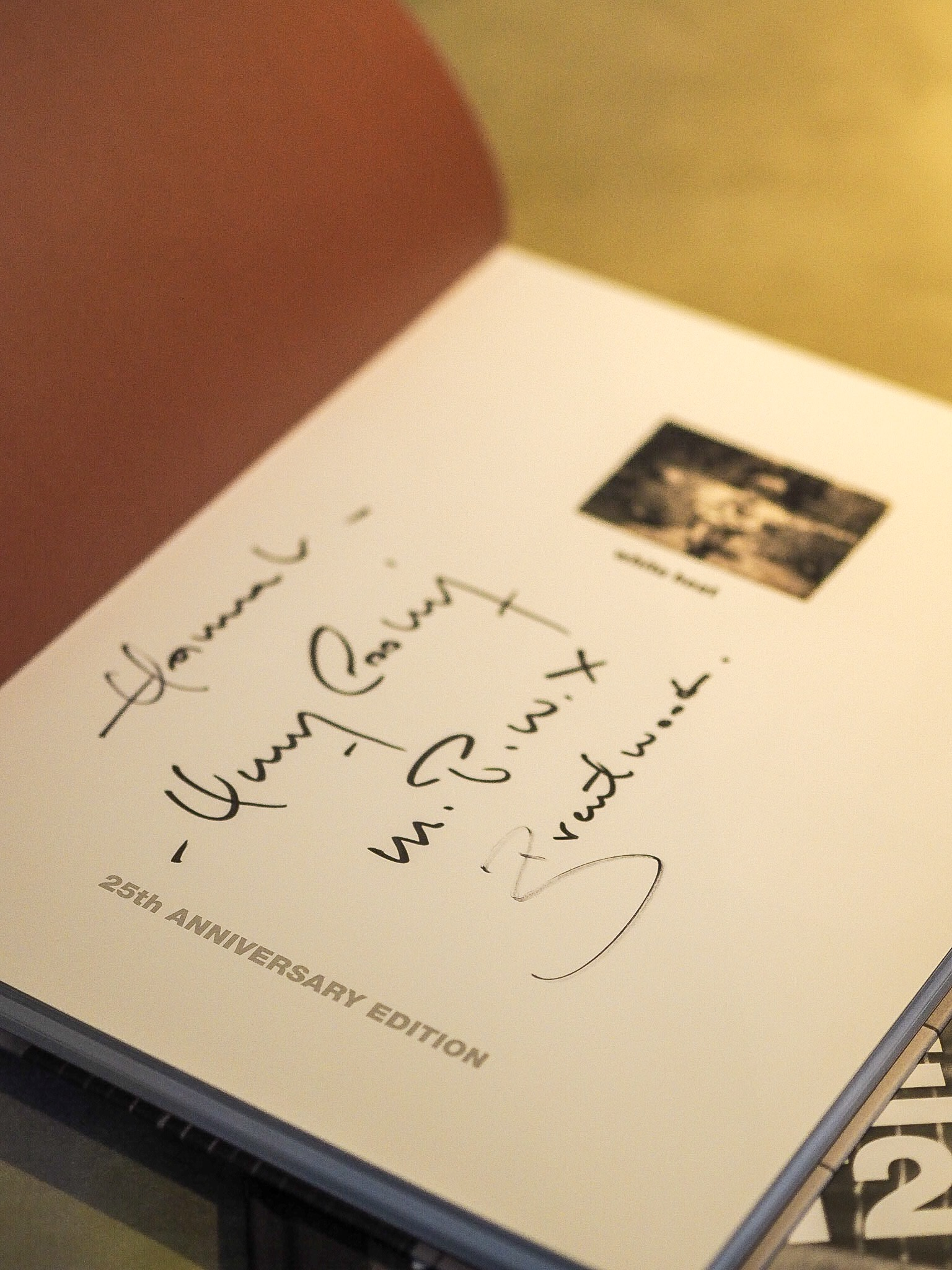 signed book at the marco pierre white restaurant at the holiday inn in brentwood