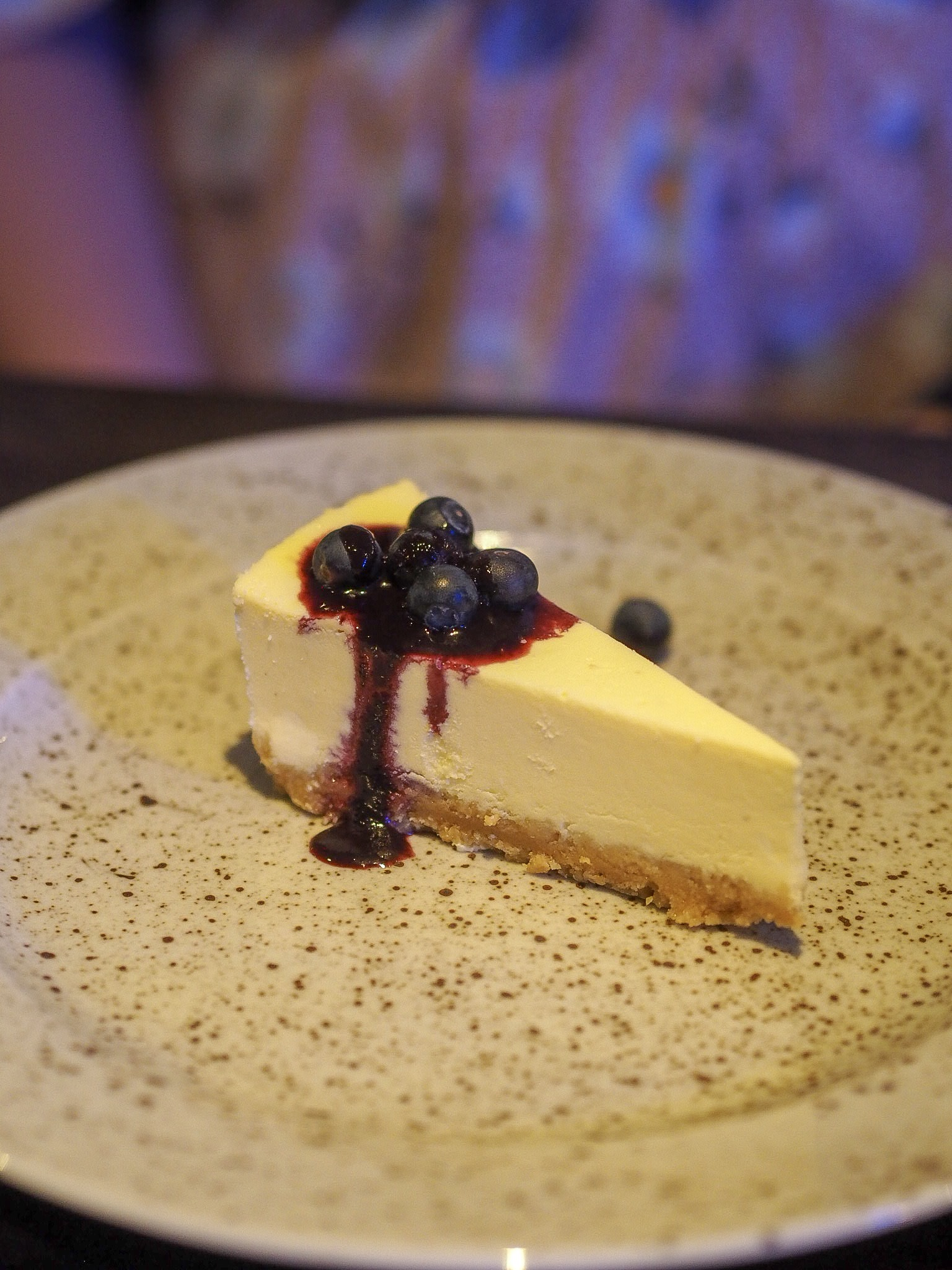 cheesecake at the marco pierre white restaurant at the holiday inn in brentwood