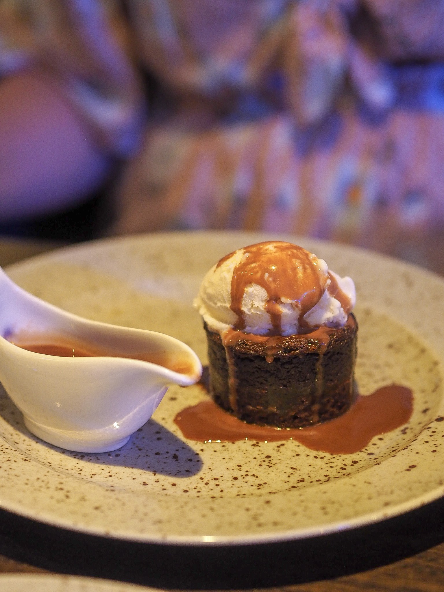 chocolate brownie at the marco pierre white restaurant at the holiday inn in brentwood