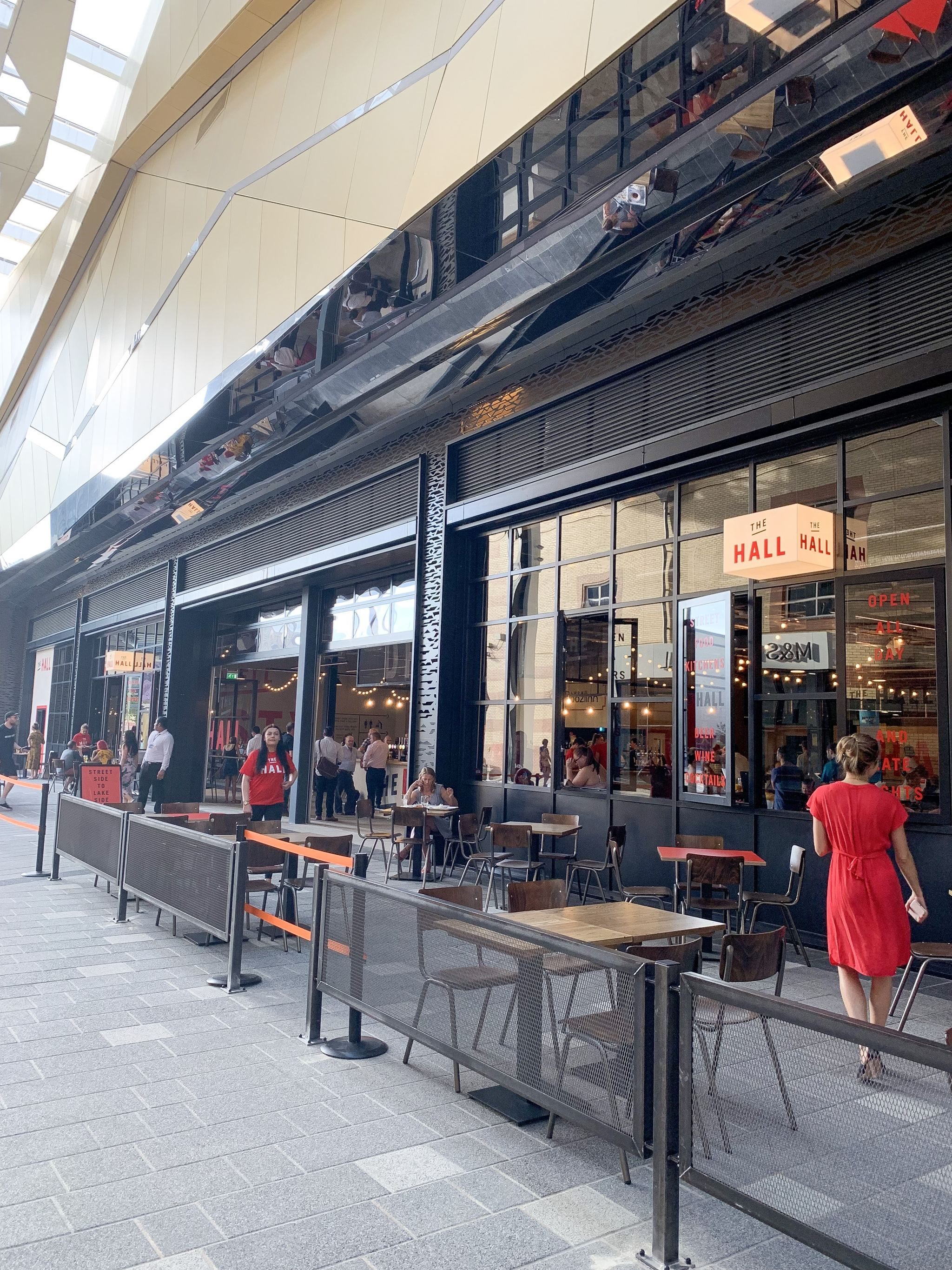 the food hall at lakeside