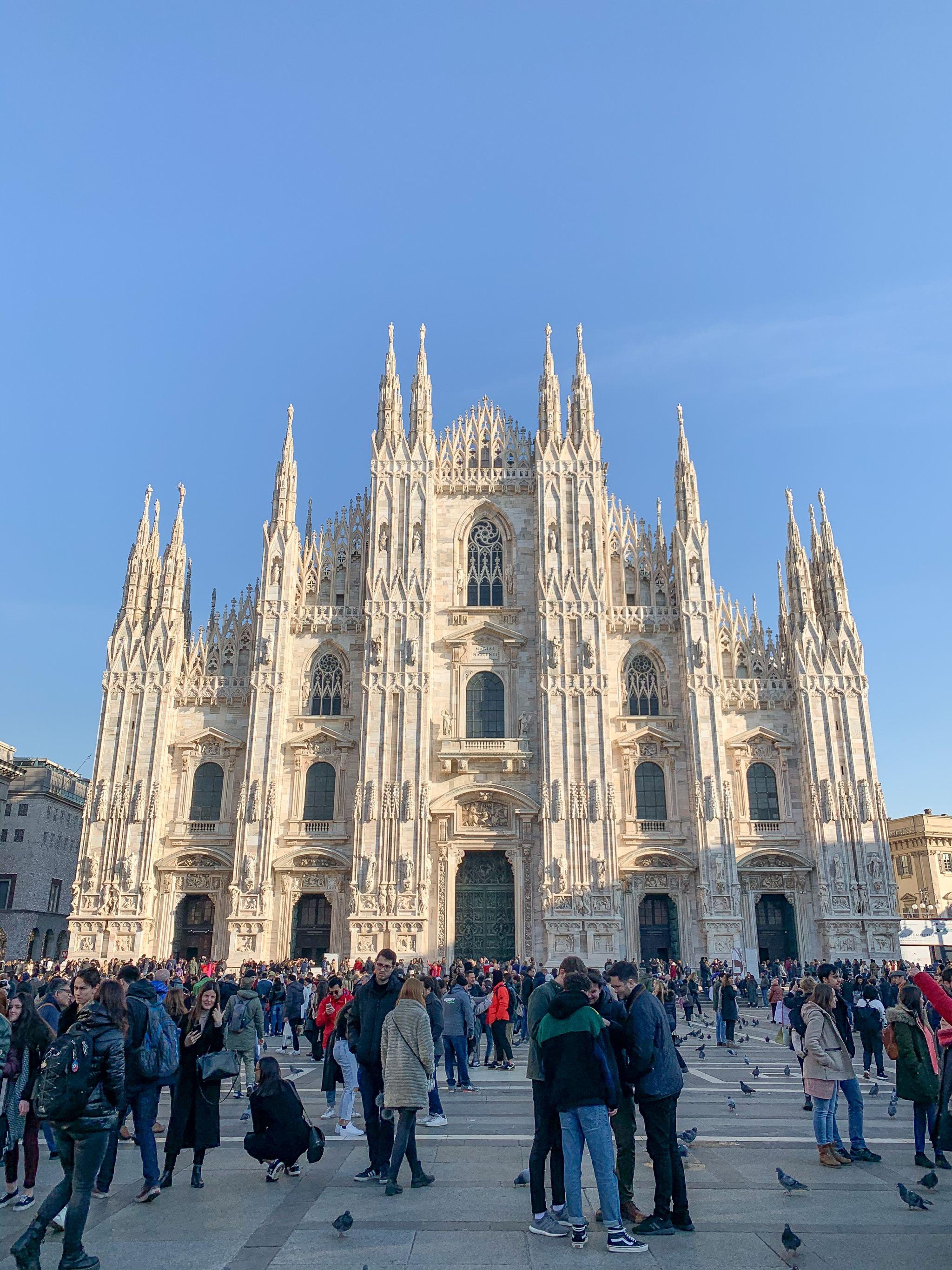 Duomo Milan in the sun