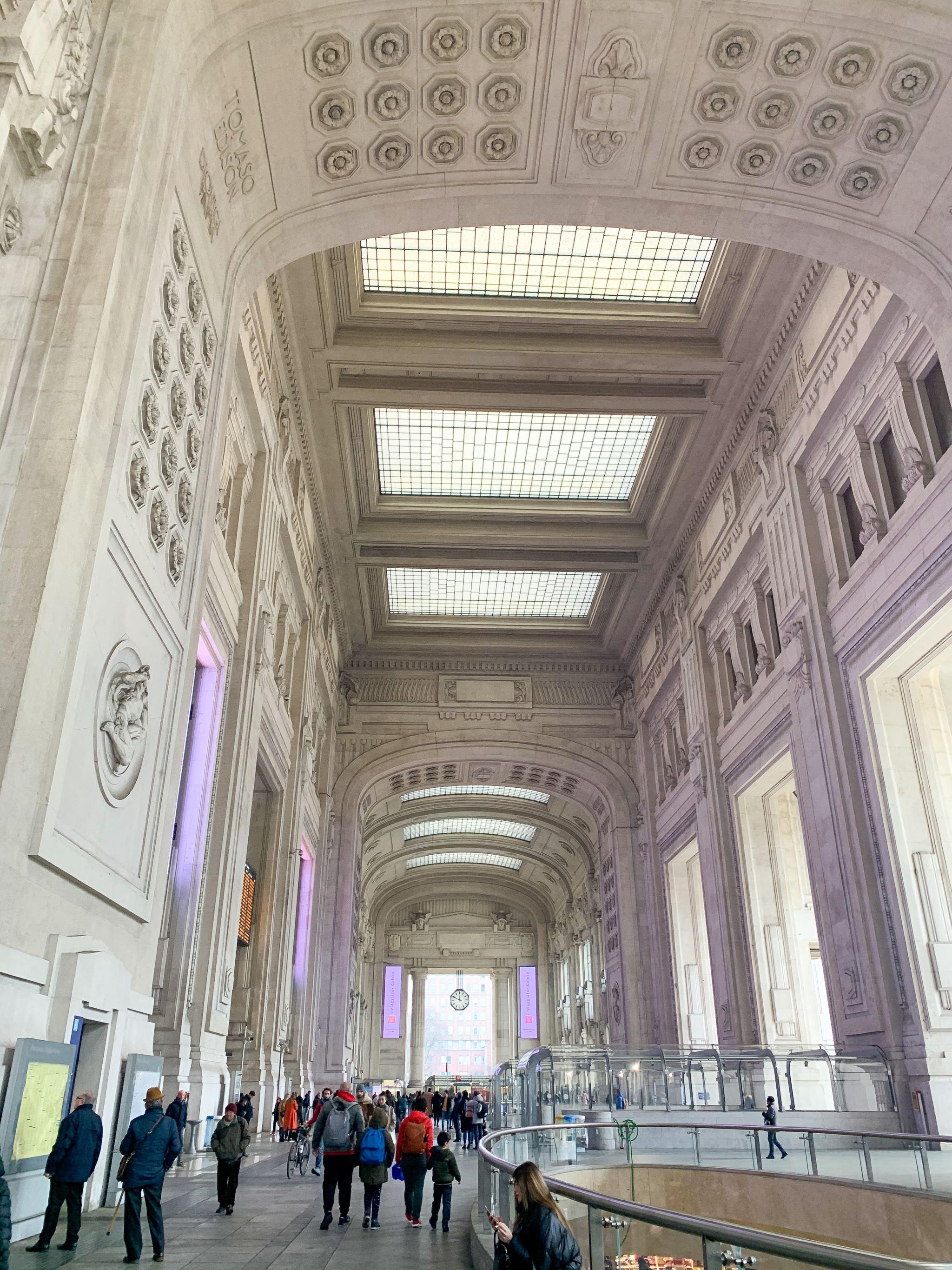 Milan central train station