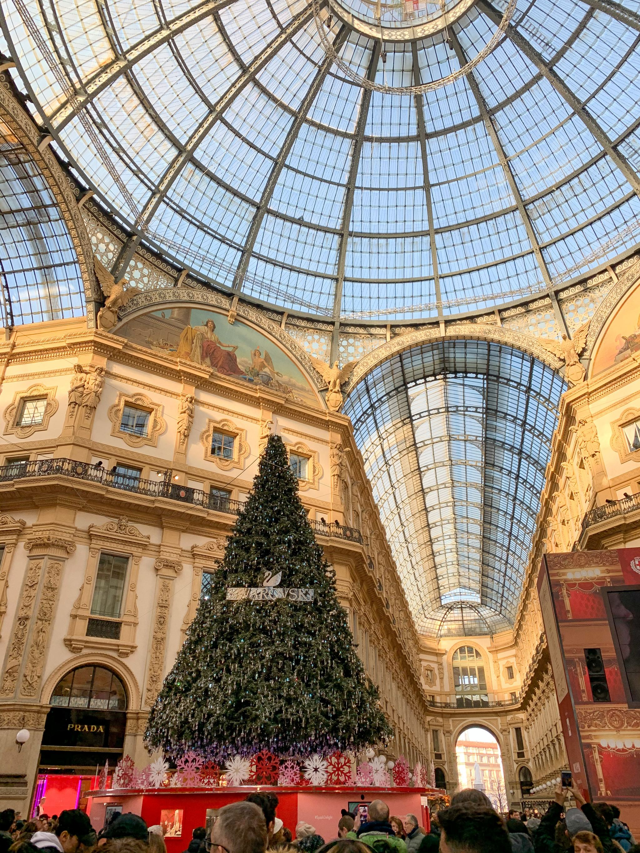Milan shopping center Christmas time
