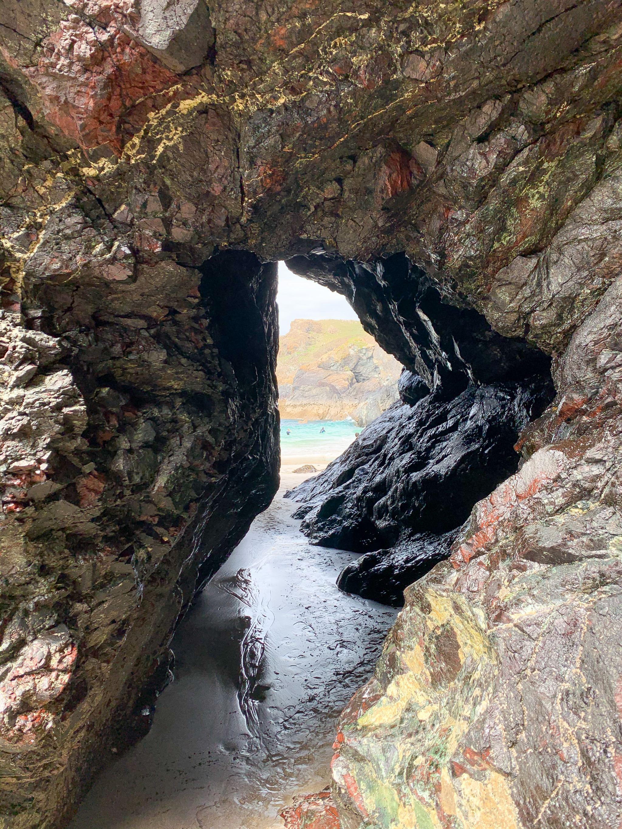 Kynance Cove caves