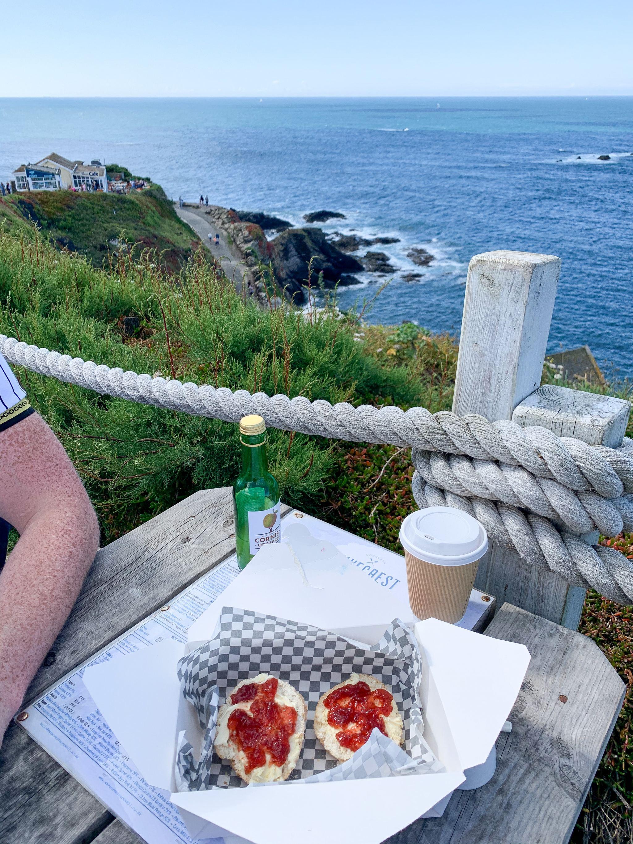 cream tea at wavecrest, the lizard