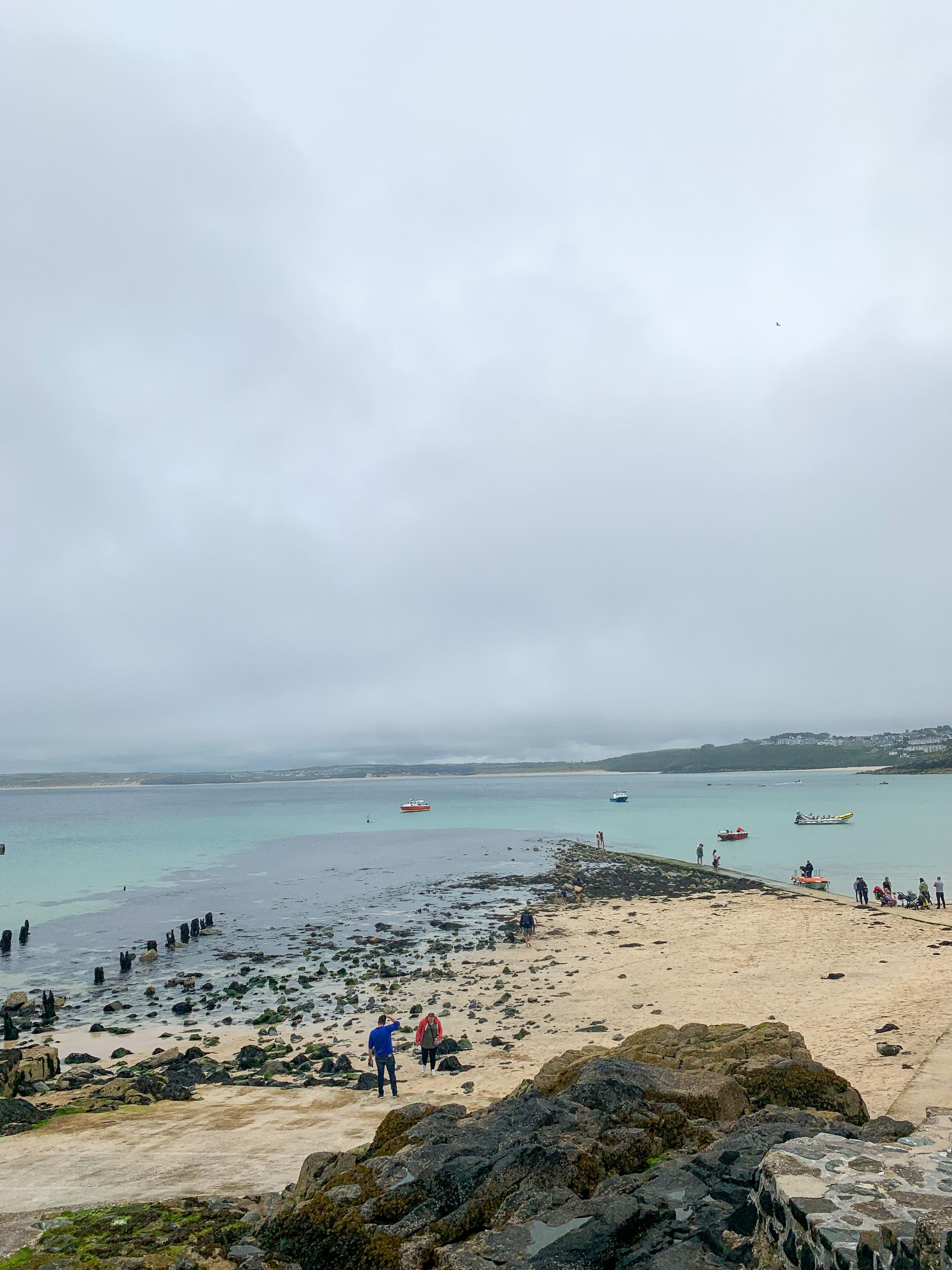the beach at st ives