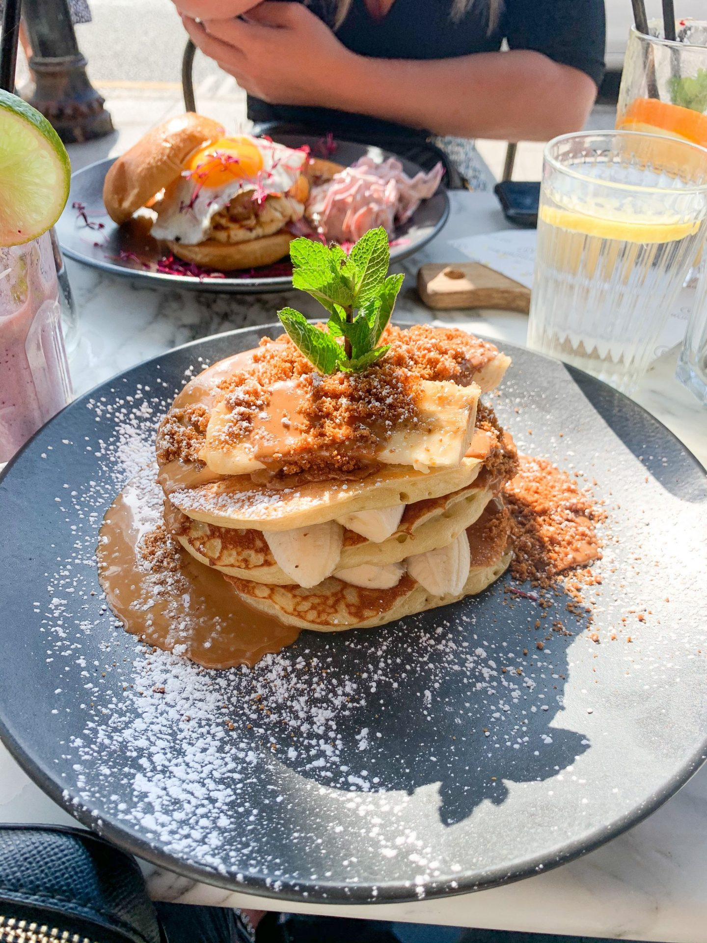 The Brunch Co biscoff pancakes